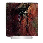 Fracture Shower Curtain by Rachel Christine Nowicki