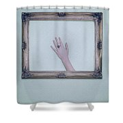 Framed Hand Shower Curtain by Joana Kruse