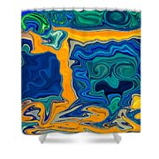 Framed Shower Curtain by Omaste Witkowski