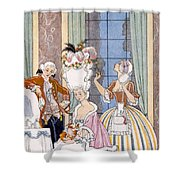 France In The 18th Century Shower Curtain by Georges Barbier