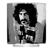 Frank Zappa - Chalk And Charcoal 2 Shower Curtain by Joann Vitali