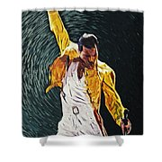 Freddie Mercury Shower Curtain by Taylan Soyturk