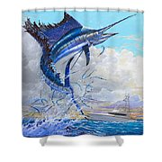 Free Jumper Off00152 Shower Curtain by Carey Chen