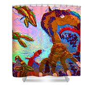 Free souls Shower Curtain by Else Margrethe Widerberg