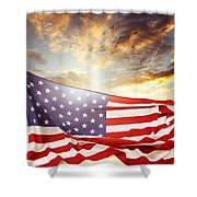 Freedom Shower Curtain by Les Cunliffe