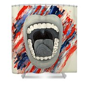 Americas Voice Shower Curtain by Scott French