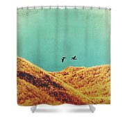 Freedom Vintage Shower Curtain by Angela Doelling AD DESIGN Photo and PhotoArt