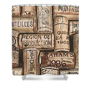 French Corks Shower Curtain by Debbie DeWitt