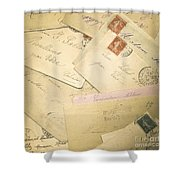 French Correspondence From Ww1 #2 Shower Curtain by Jan Bickerton