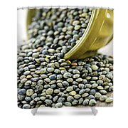 French Lentils Shower Curtain by Elena Elisseeva