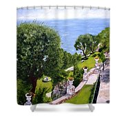 French Riviera Shower Curtain by Graciela Castro