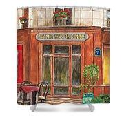 French Storefront 1 Shower Curtain by Debbie DeWitt