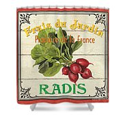 French Vegetable Sign 1 Shower Curtain by Debbie DeWitt
