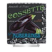 French Veggie Labels 4 Shower Curtain by Debbie DeWitt