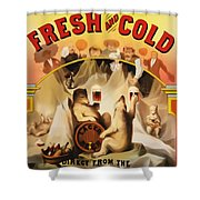Fresh And Cold Direct From The North Pole Shower Curtain by Digital Reproductions