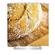 Fresh Baked Loaf Of Artisan Bread Shower Curtain by Edward Fielding
