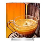 Fresh Espresso Shower Curtain by Carlos Caetano