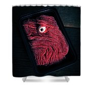 Fresh Ground Zombie Meat - Its What's For Dinner Shower Curtain by Edward Fielding