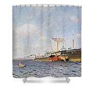 Fresh Wind On The Volga Shower Curtain by Isaak Ilyich Levitan
