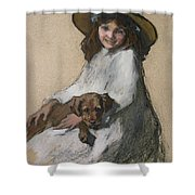 Friends Shower Curtain by Elizabeth Adela Stanhope Forbes