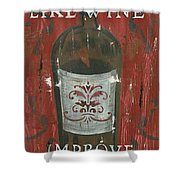 Friendships Like Wine Shower Curtain by Debbie DeWitt