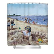 From Sandcastles to College Shower Curtain by Jack Skinner