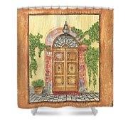 Front Door 2 Shower Curtain by Debbie DeWitt