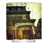 Front Of Old House Shower Curtain by Jill Battaglia