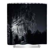 Frost Night Shower Curtain by Erik Brede