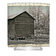 Frosty Morning Sepia 1 Shower Curtain by Chalet Roome-Rigdon