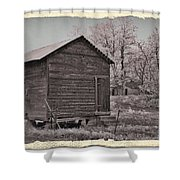 Frosty Morning Sepia 2 Shower Curtain by Chalet Roome-Rigdon