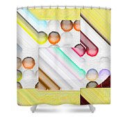 Frosty Painted Marble Weave Shower Curtain by Liane Wright
