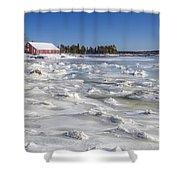 Frozen Shower Curtain by Evelina Kremsdorf
