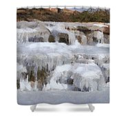 Frozen Falls Shower Curtain by Jeff Kolker