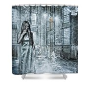 Frozen Hope Shower Curtain by Erik Brede