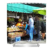 Fruit For Sale Hoboken Nj Shower Curtain by Susan Savad