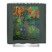 Fruit Of The Vine Shower Curtain by Sandra Cutrer