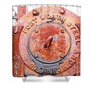 Ft Worth Steel Shower Curtain by Angela Wright