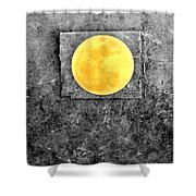 Full Moon Shower Curtain by Rebecca Sherman