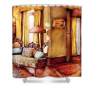 Furniture - Chair - The Queens Parlor Shower Curtain by Mike Savad