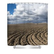 Furrows Before The Storm Shower Curtain by Mike  Dawson