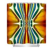 Fury Pattern 6 Shower Curtain by Amy Vangsgard
