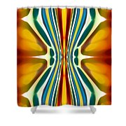 Fury Pattern 6 Shower Curtain by Amy Vangsgard