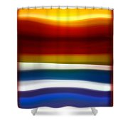 Fury Sea 5 Shower Curtain by Amy Vangsgard