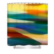 Fury Seascape 3 Shower Curtain by Amy Vangsgard