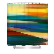 Fury Seascape 6 Shower Curtain by Amy Vangsgard