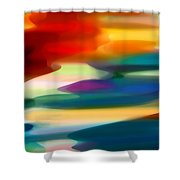 Fury Seascape Shower Curtain by Amy Vangsgard