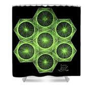 Fusion  Shower Curtain by Jason Padgett