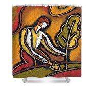 Future Shower Curtain by Leon Zernitsky