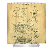 Futuristic Toy Gun Weapon Patent Shower Curtain by Edward Fielding